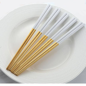 Stainless Architec Chopsticks Set