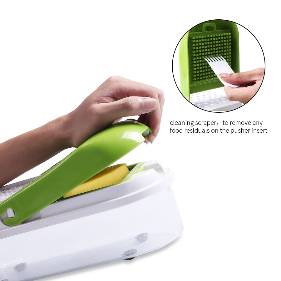 Multi-function Vegetable Slicer with 8 Dicing Blades