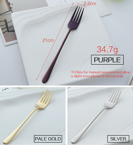 7pcs Long Handled Dinner Fork