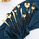 Luxe™️ Black Gold Silverware Set