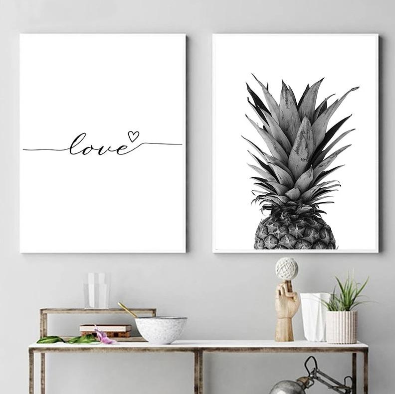 Love Quote Pineapple Wall Art