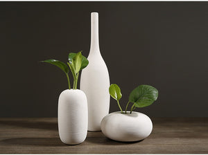 Creativity Porcelain White Vases