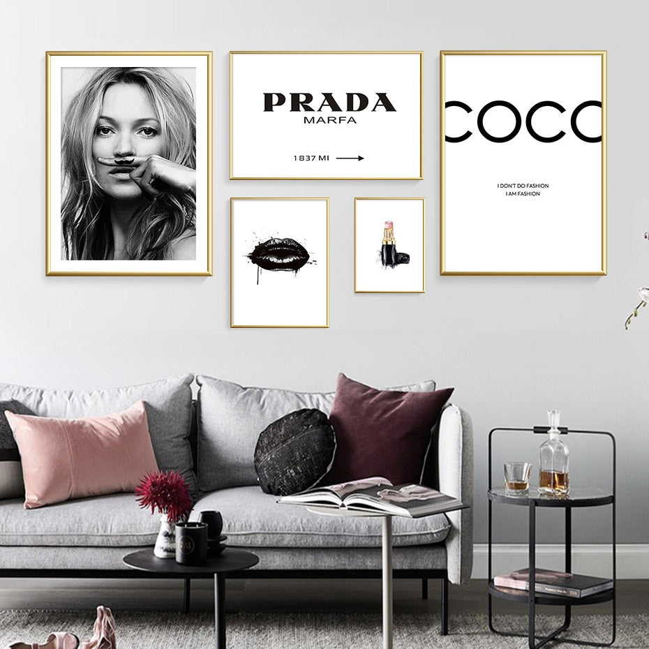 Modern Fashion Make Up Wall Art