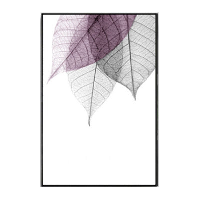 Abstract Transparent Leaves Wall Art