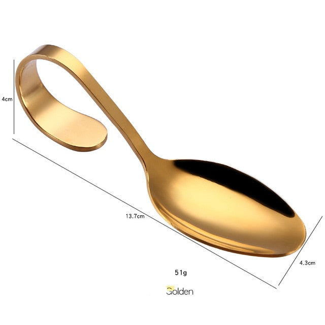 Curved Handle Spoon
