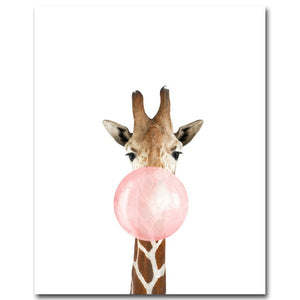 Animal Bubble Gum Wall Art