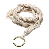 Vintage Hanging Knotted Lifting Rope