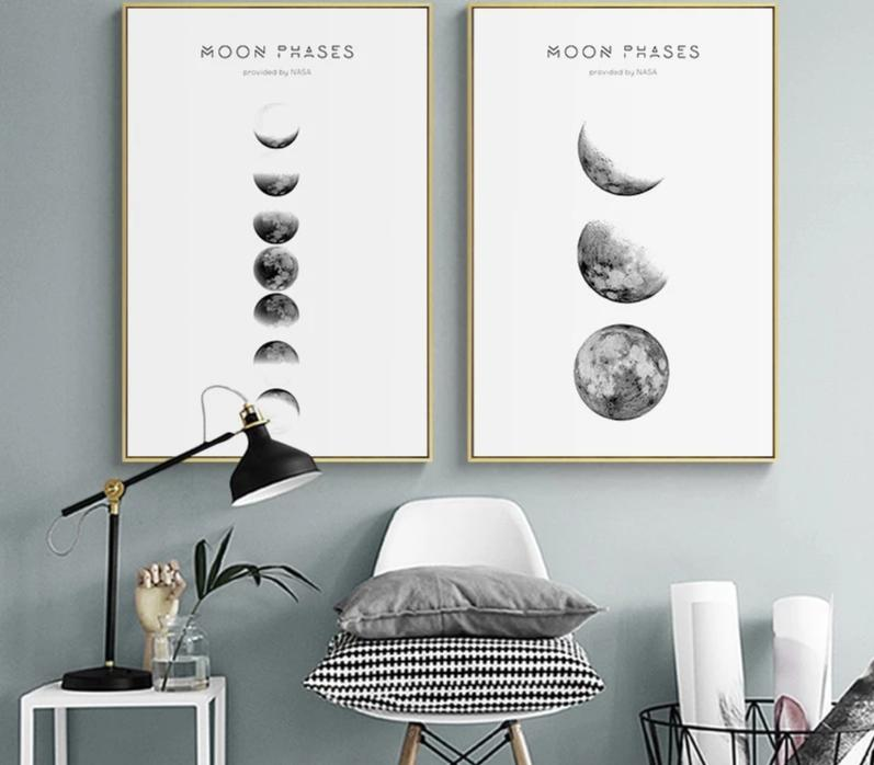Moon Phase Wall Art