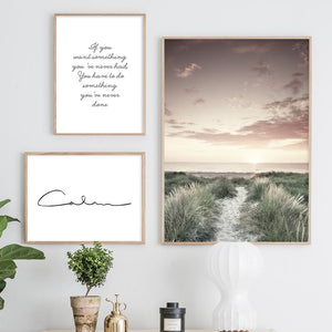 Calm Grass Field Wall Art