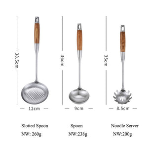 Wood Handle Cooking Tool Sets