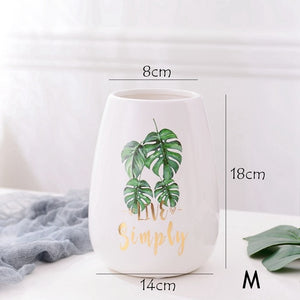 1pc Monstera Flower Vase