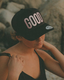 Rose Gold GOOD / LUCK Basic Trucker Cap