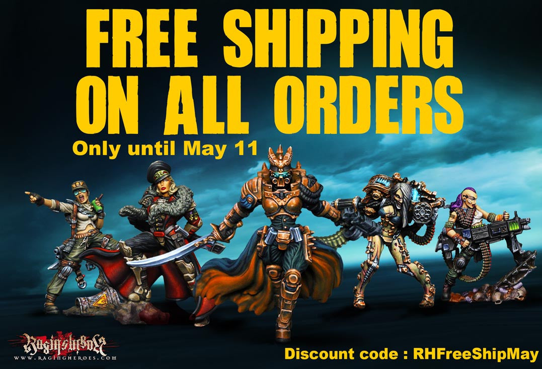 FREE SHIPPING on ALL ORDERS until May 20th!