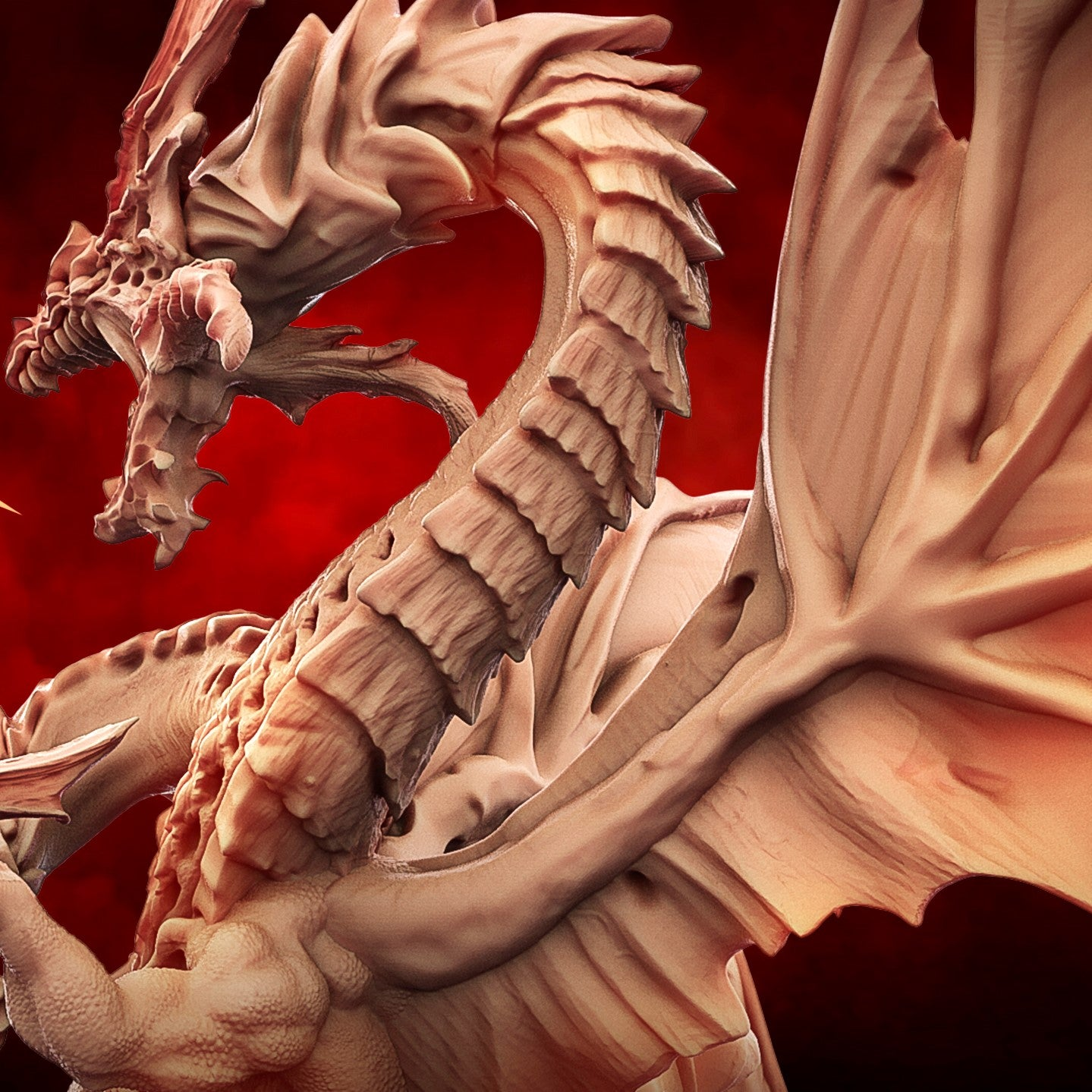 Epic Model 1 - Patrons Loyalty Reward: Meet the gigantic Chaos Dragon:  Kn'a Larr!