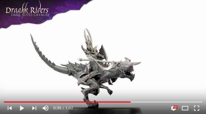 Draahk Riders Attack! 🐲 Dark Elves Cavalry - Turntable video