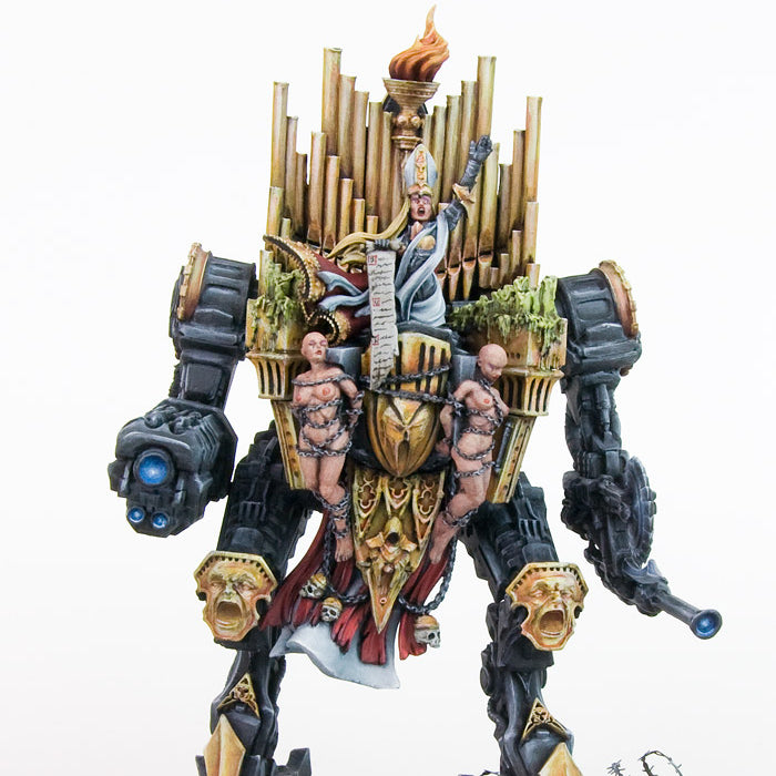 The huge Sisters' War Machine: the War Pulpit painted