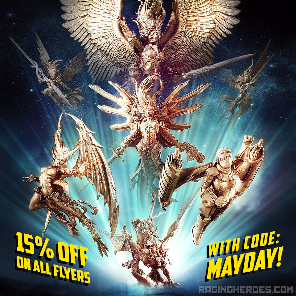Mayday! 15% off on all flyers!