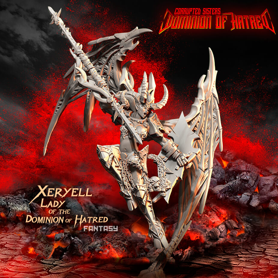The Dominion of Hatred strikes back: Xeryell Lady & Queen now available!