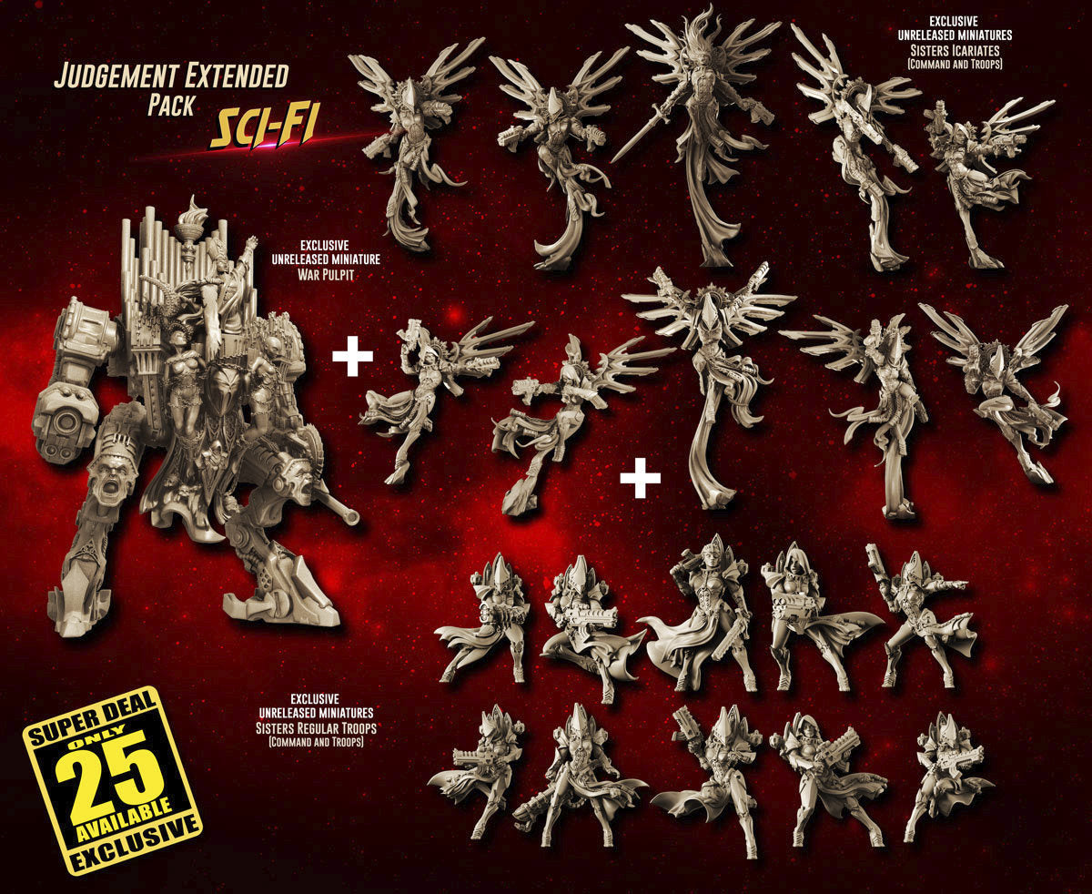 NSFW: 💥 The Huge Sisters War Pulpit + Unreleased Troops + Bonus Model +  ✨ Exclusive Judgement Packs released!