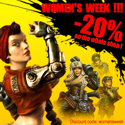 20% OFF your order with discount code: womensweek