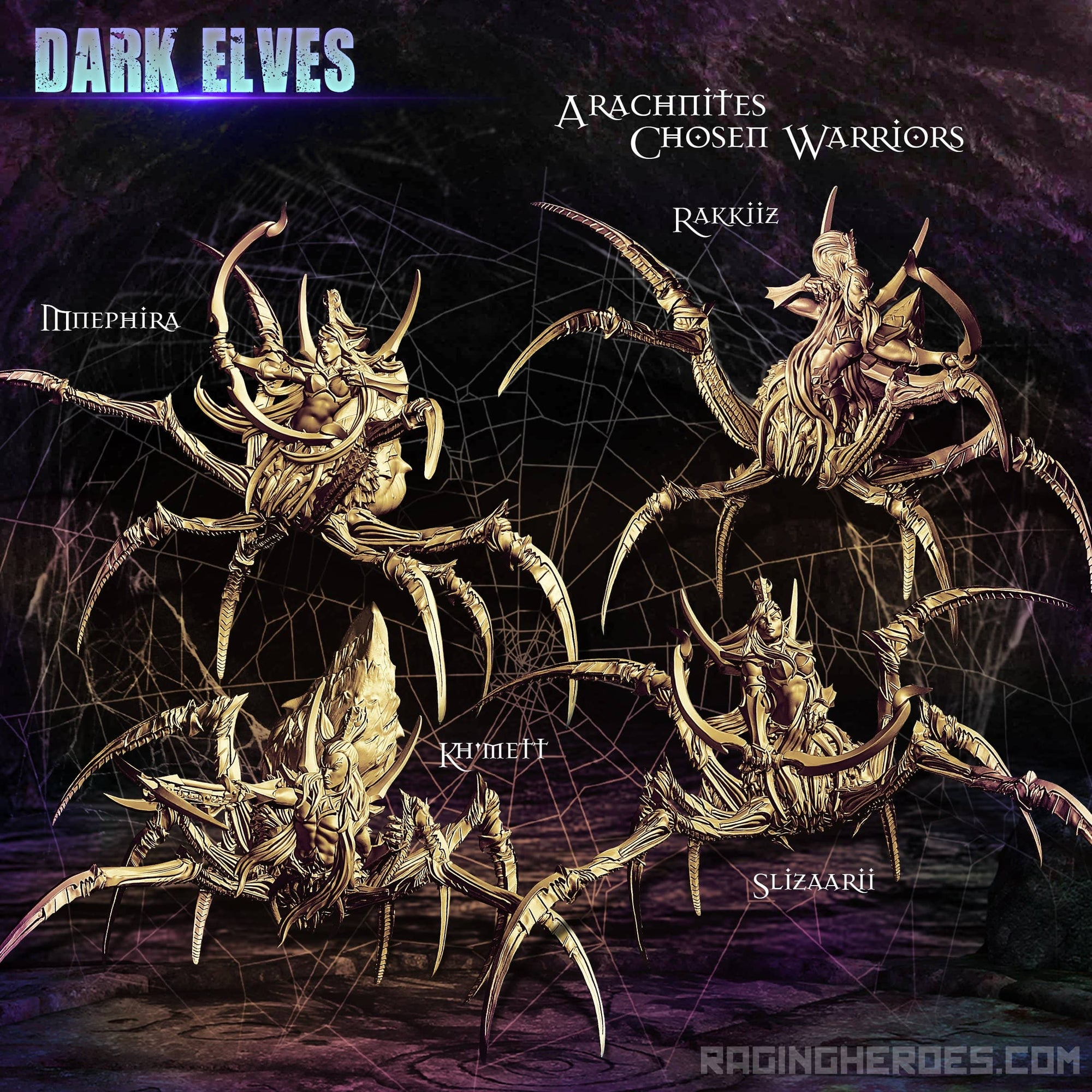 Arachnites Chosen Warriors (DE - F) - Raging Heroes