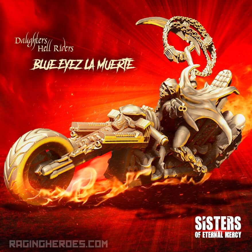 Blue Eyez La Muerte, Hell Rider Daughter (SoEM - SF) - Raging Heroes