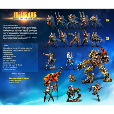 Jailbirds Army Pack RECON Force (JB) - Raging Heroes