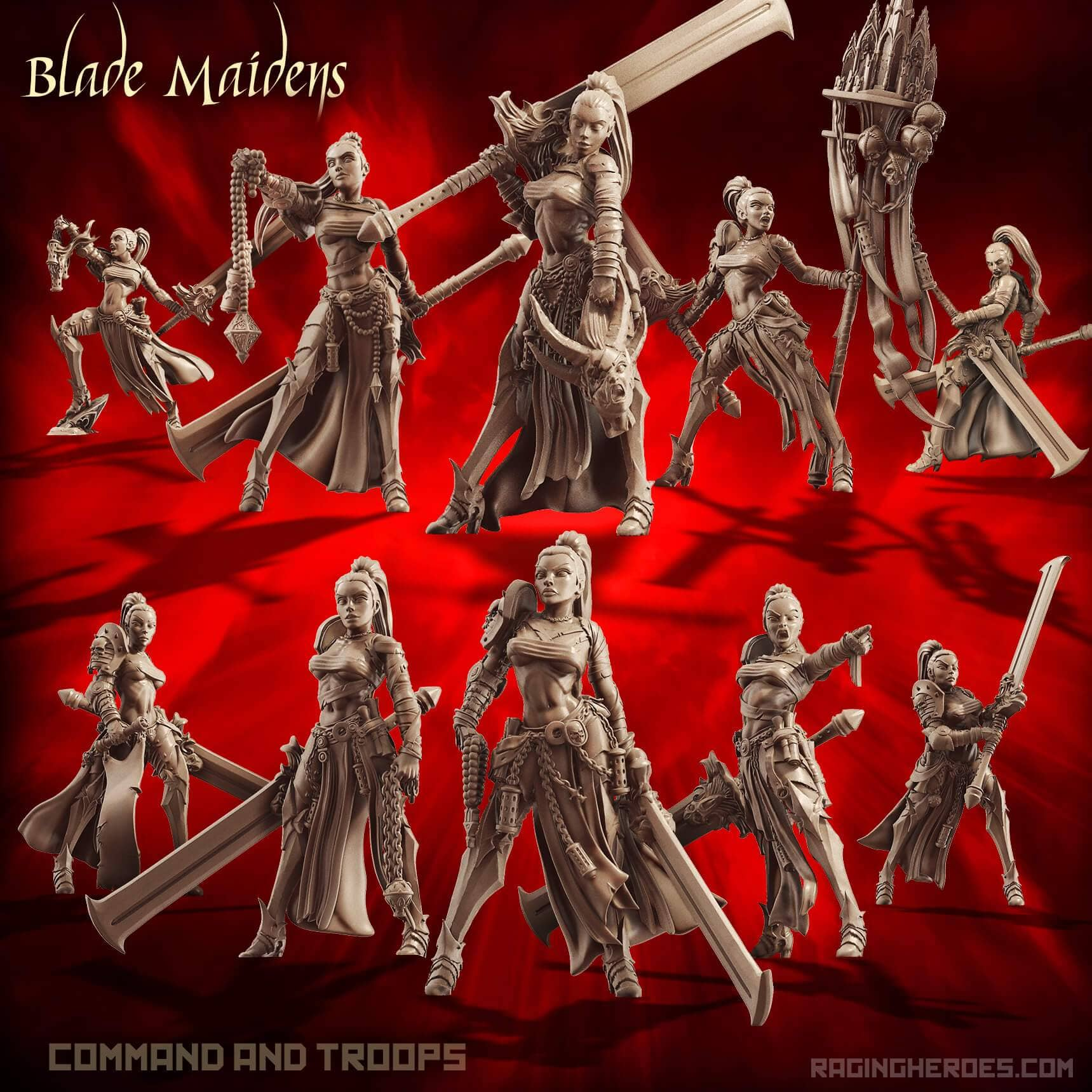 Blade Maidens Pack - Command + Troop (SotO - F) - Raging Heroes