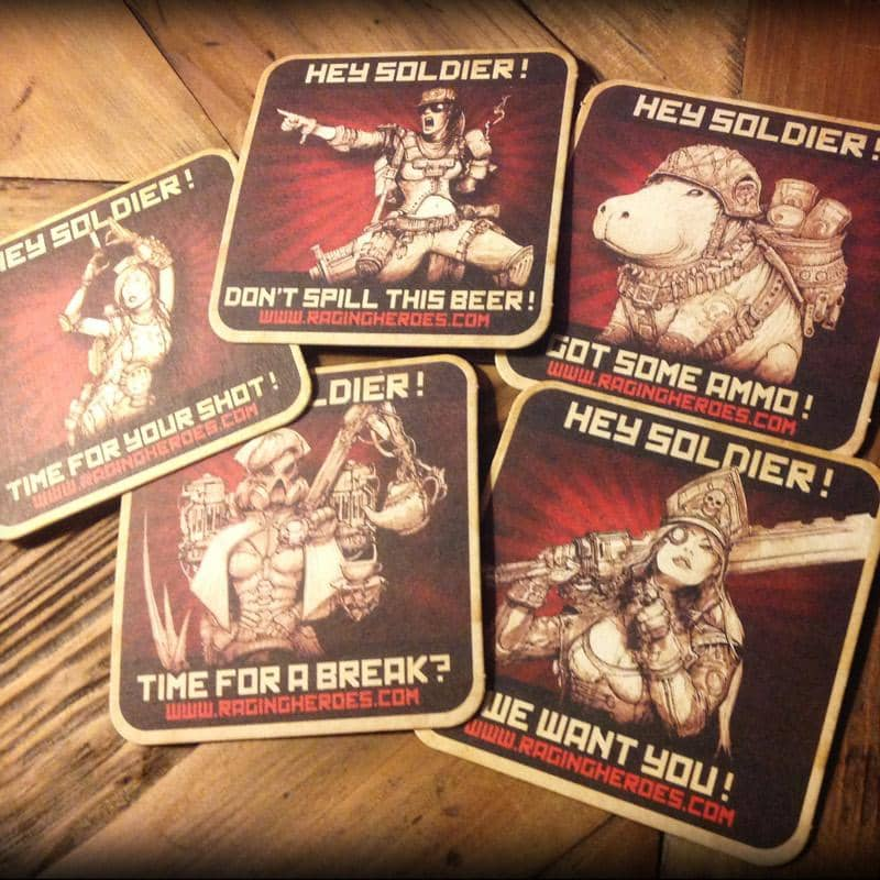 Coasters/Drink Mats - 1st Edition! - Raging Heroes