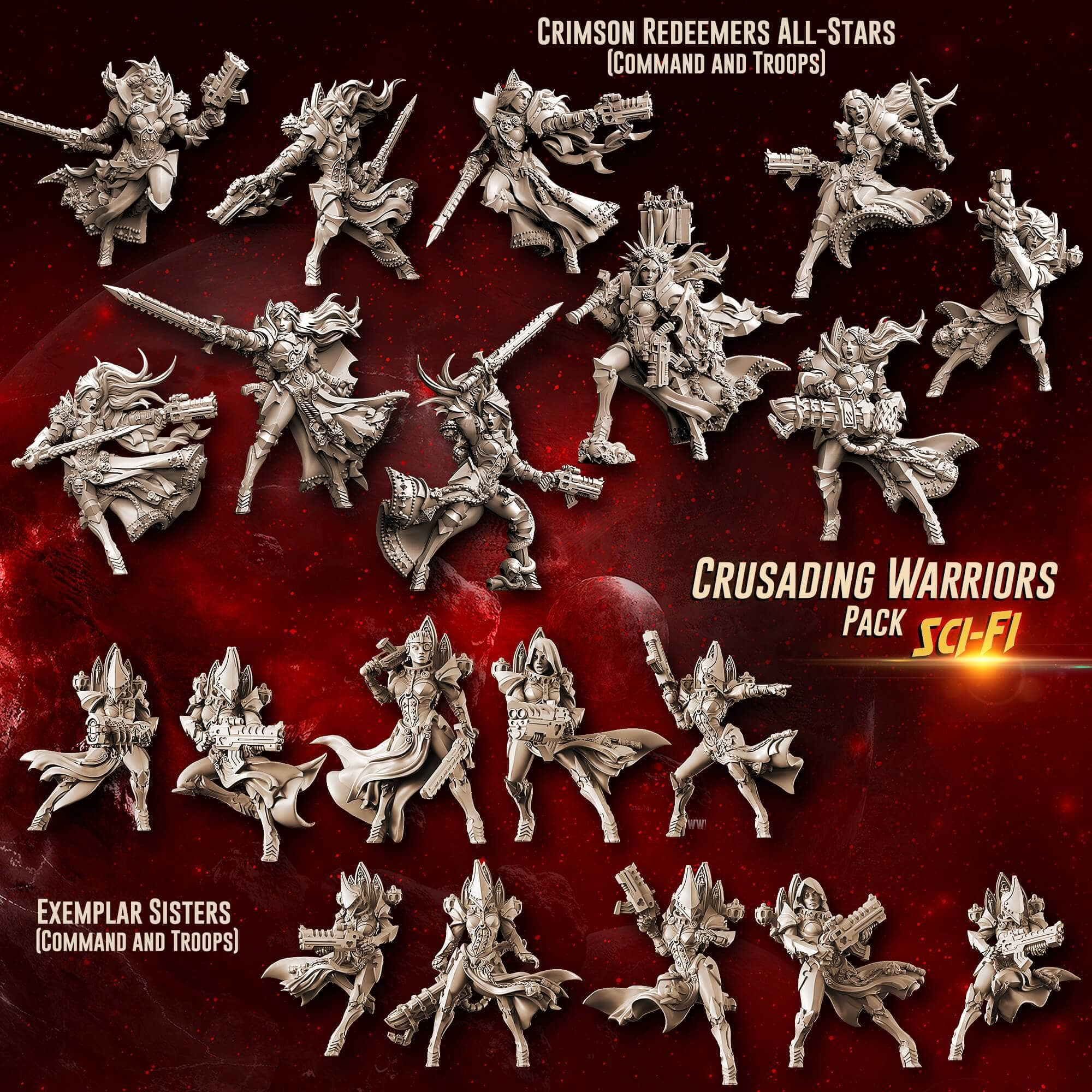Crusading Warriors Pack (SoEM - SF) - Raging Heroes