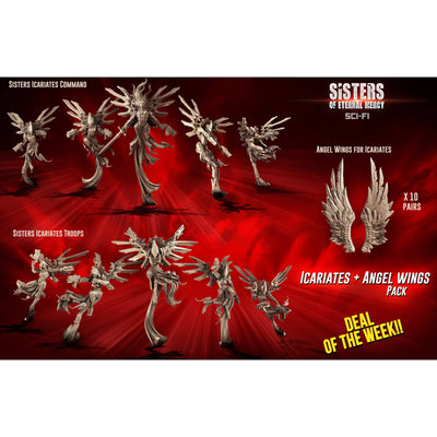 Icariates Pack + Angels Wings (SoEM - SF) - Raging Heroes