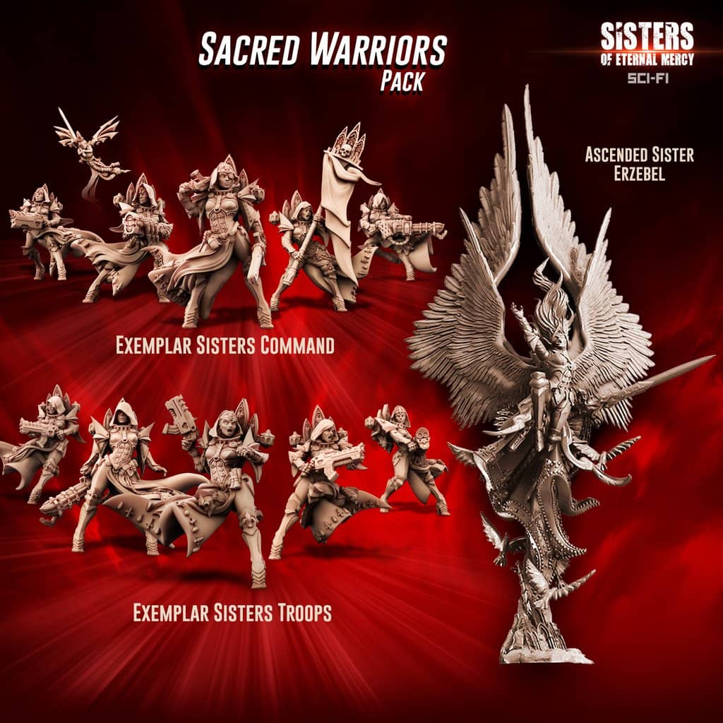Sacred Warriors Pack (SoEM - SF) - Raging Heroes