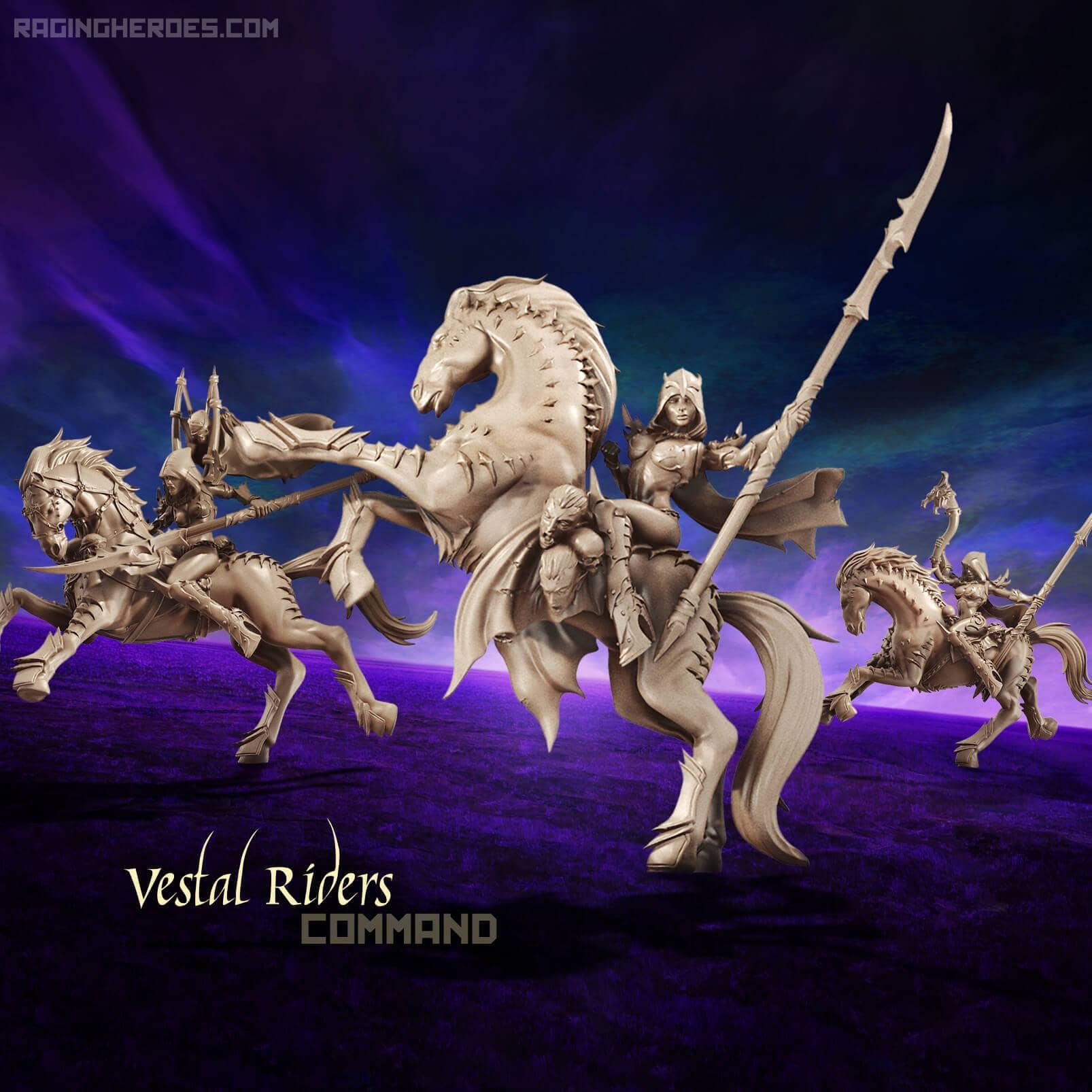 Vestal Riders - Command Group (DE - F) - Raging Heroes