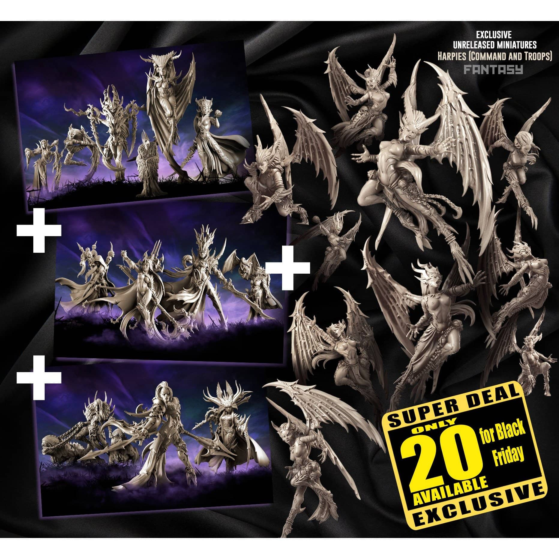 EXCLUSIVE Dark Elves Multipack with Harpies