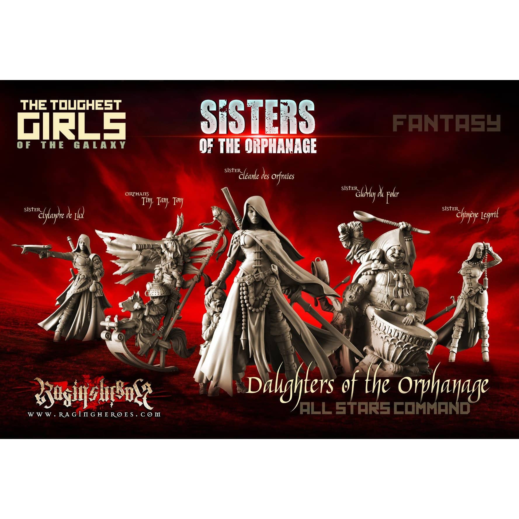 Daughters of the Orphanage - All Stars Command Group (Sisters - FANTASY) - Raging Heroes