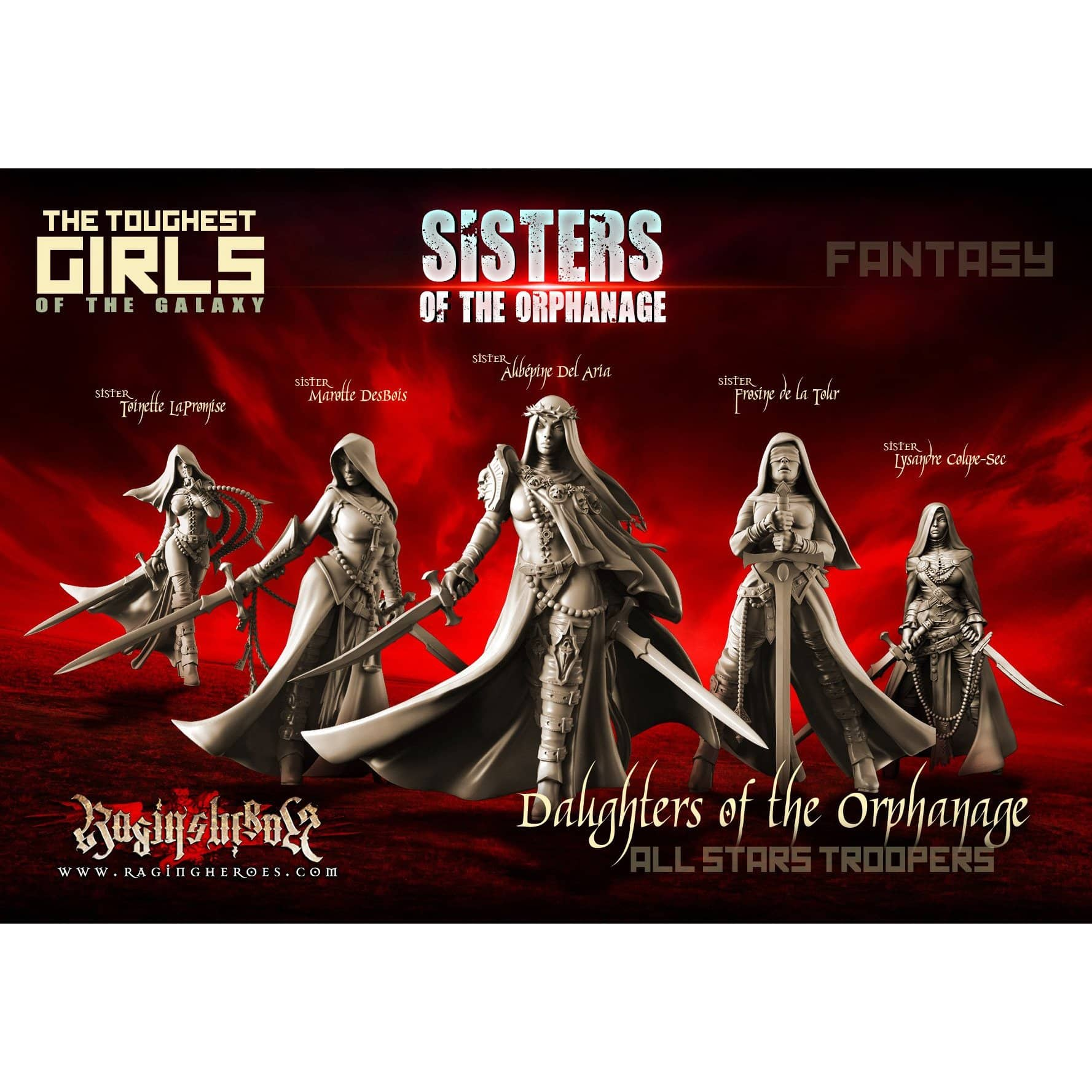 Daughters of the Orphanage - All Stars Troopers (Sisters - FANTASY) - Raging Heroes