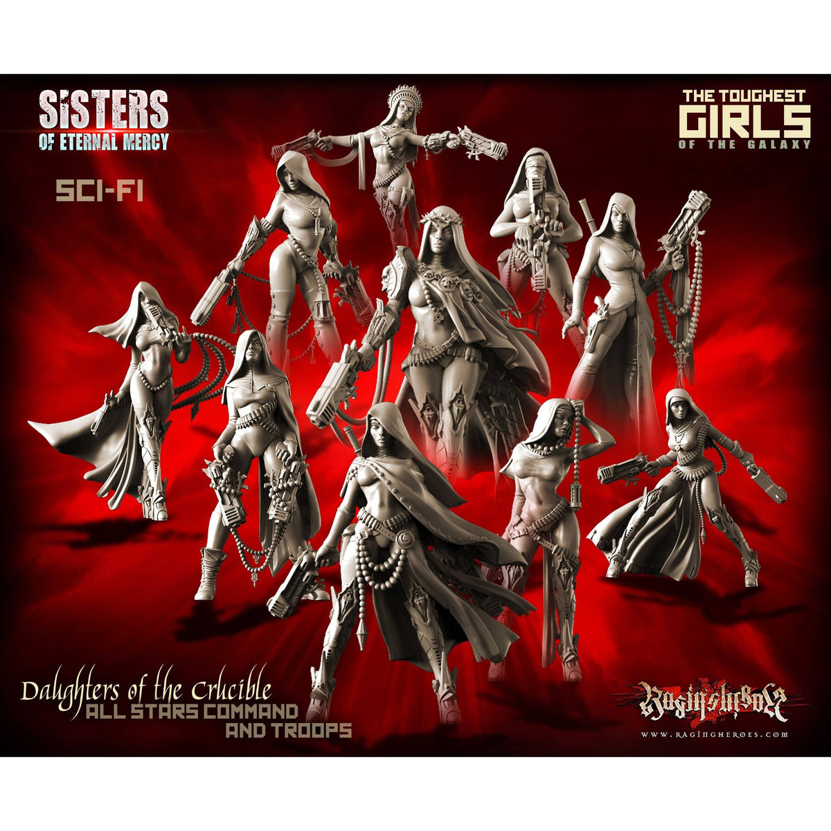 Daughters of the Crucible Pack - All 10 Stars Command AND Troops (Sisters SF)