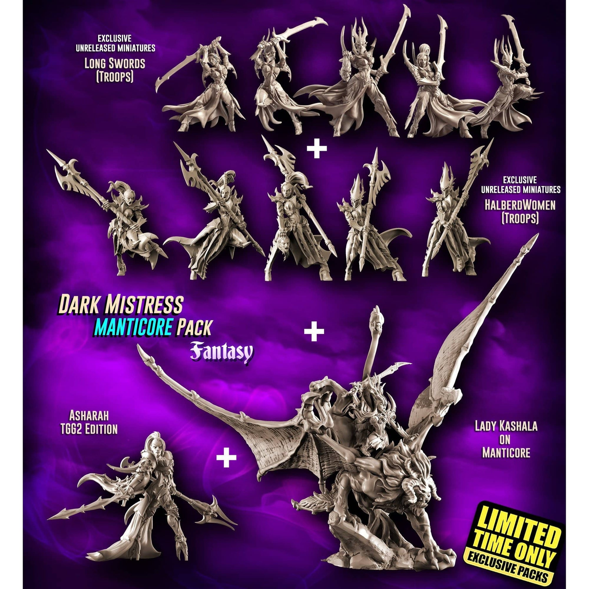 EXCLUSIVE Dark Mistress MANTICORE Pack (DE - F) - Raging Heroes