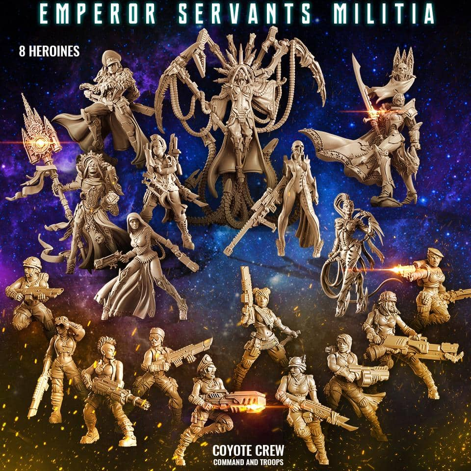 Emperor Servants Militia (Mixed JB - SF) - Raging Heroes