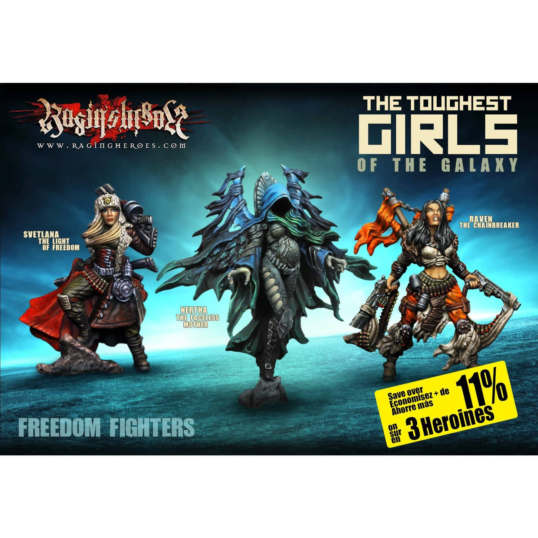 Heroines Box : The FREEDOM Fighters (JB, KST, IE) - Raging Heroes