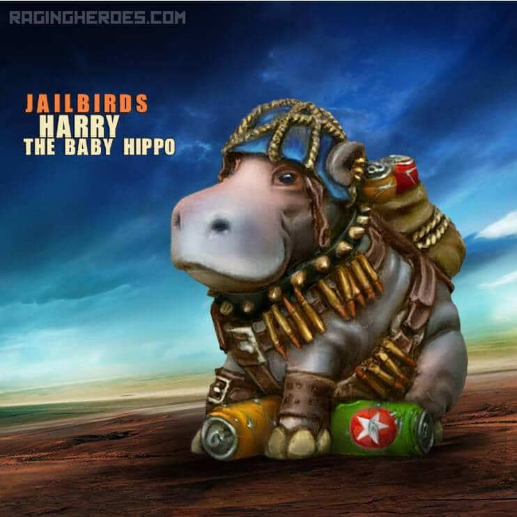 Harry the baby Hippo, JB Mascot - Raging Heroes