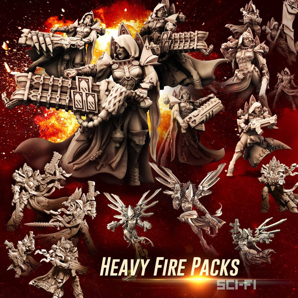 HEAVY Fire Packs (SoEM - SF) - Raging Heroes