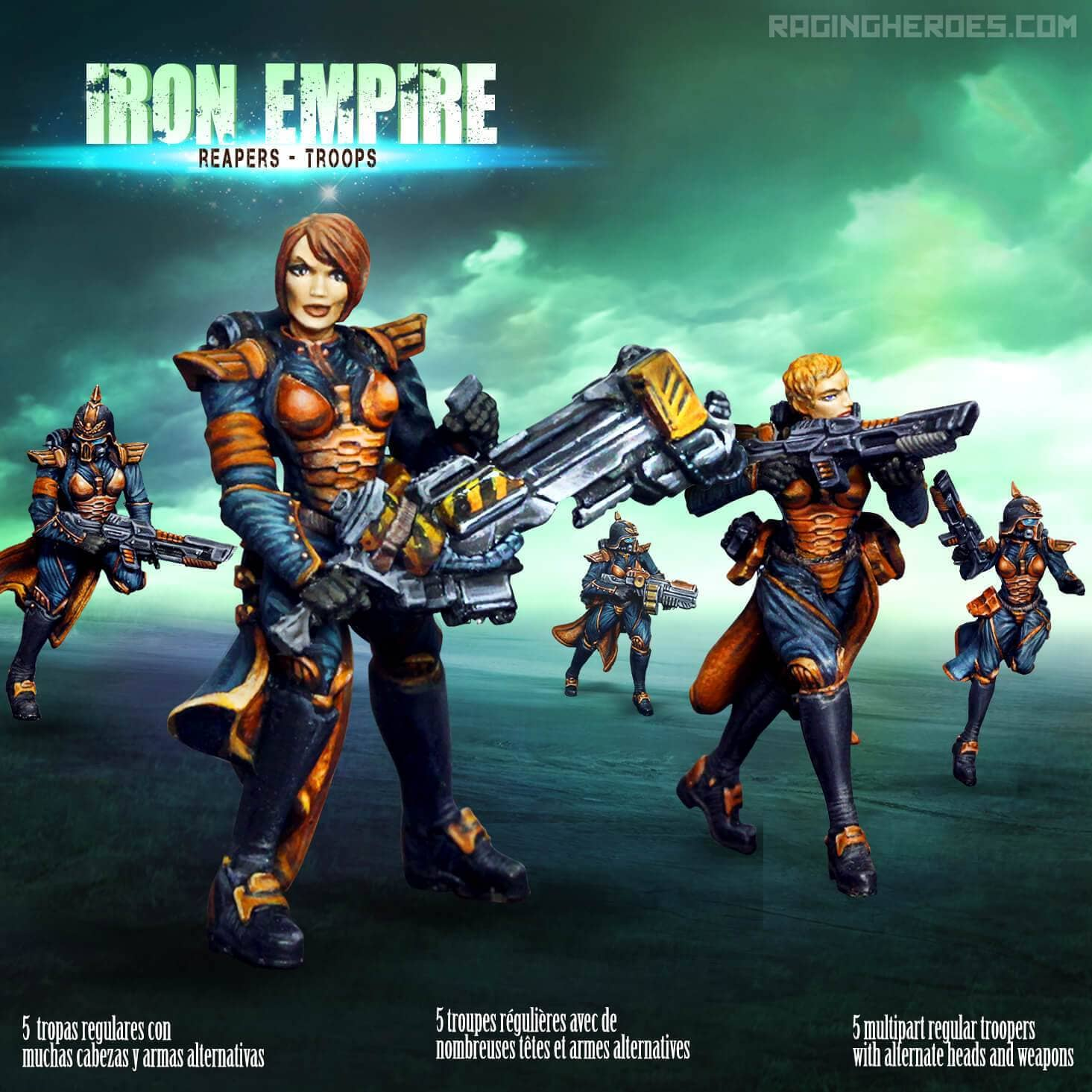 Iron Empire - Reapers - Troops - Raging Heroes