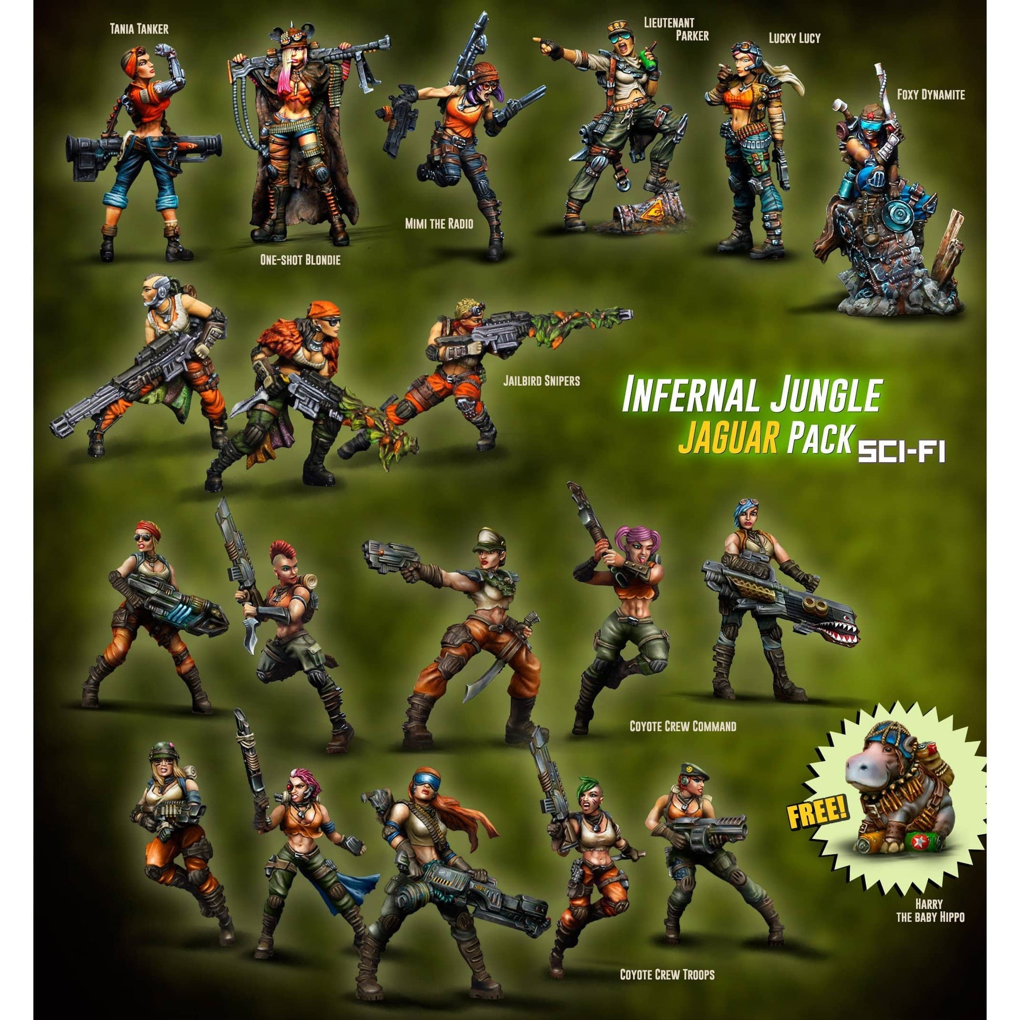 Infernal Jungle JAGUAR Pack (JB) - Raging Heroes