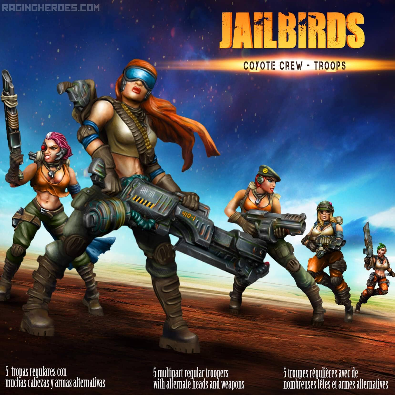 Jailbirds - Coyote Crew - Troops - Raging Heroes