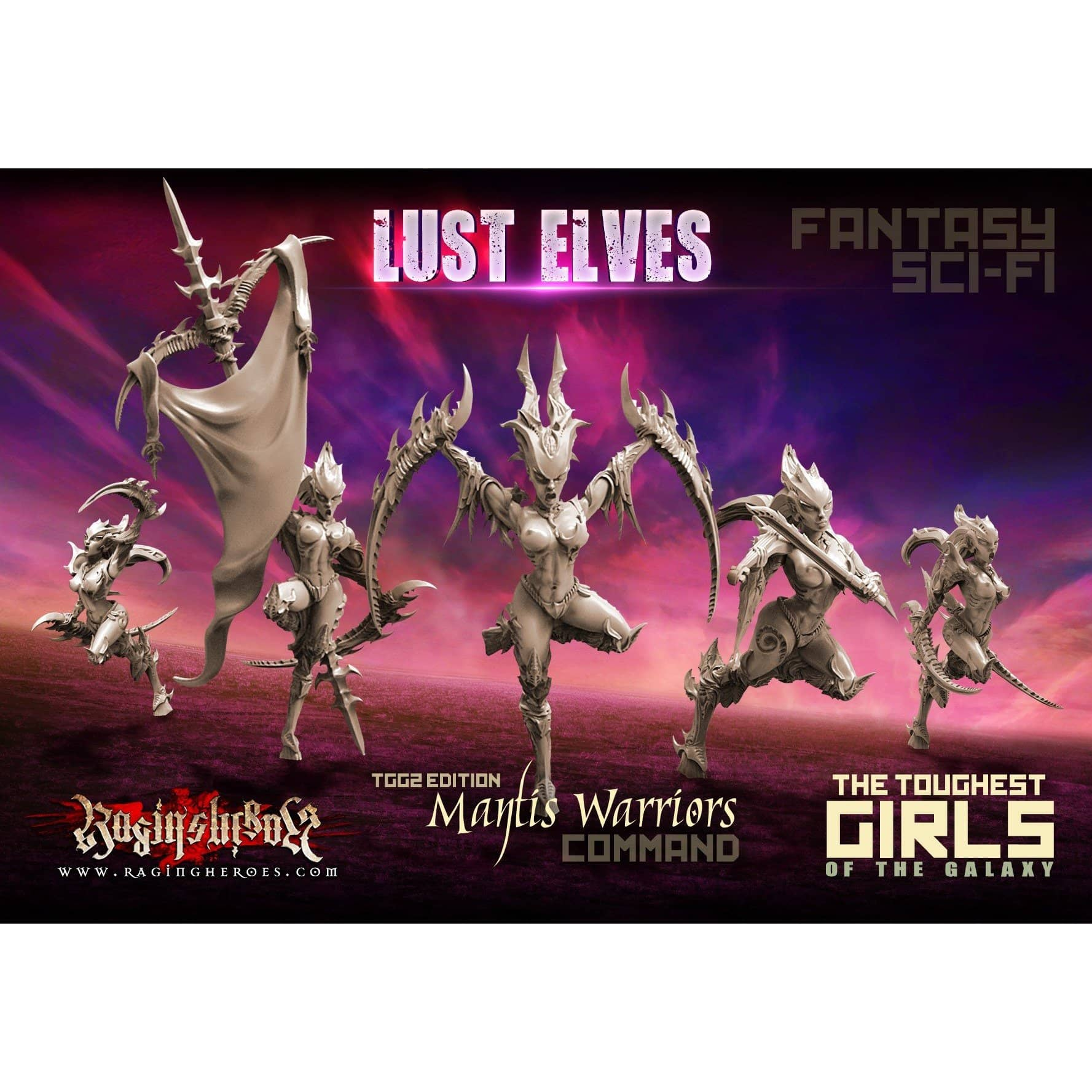 Mantis Warriors - Command Group, TGG2 Ed. (LE - F/SF) - Raging Heroes