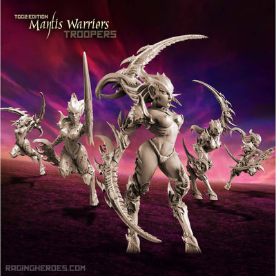 Mantis Warriors - TROOPS, TGG2 Ed. (LE - F/SF) - Raging Heroes