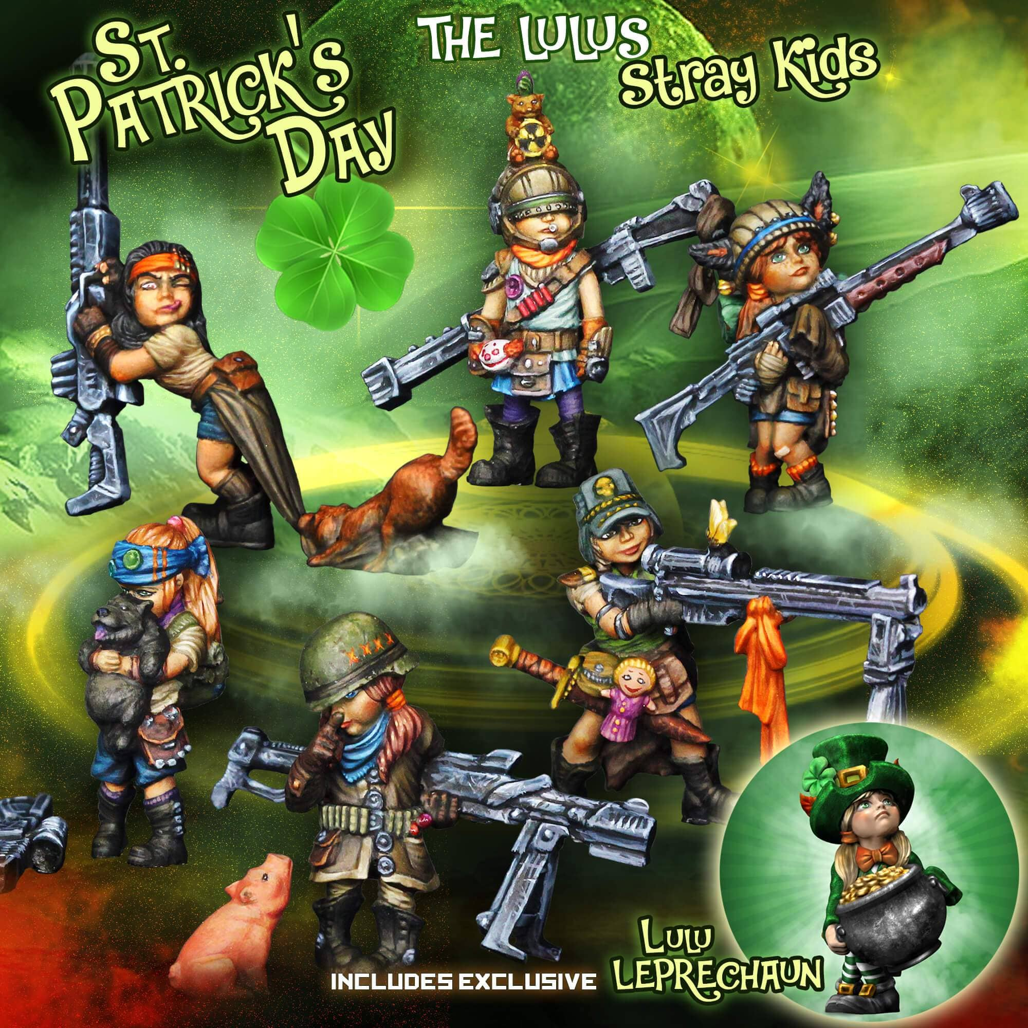 The Lulus, 7 Stray Kids Collector St. Patrick's Day Pack (JB) - Raging Heroes
