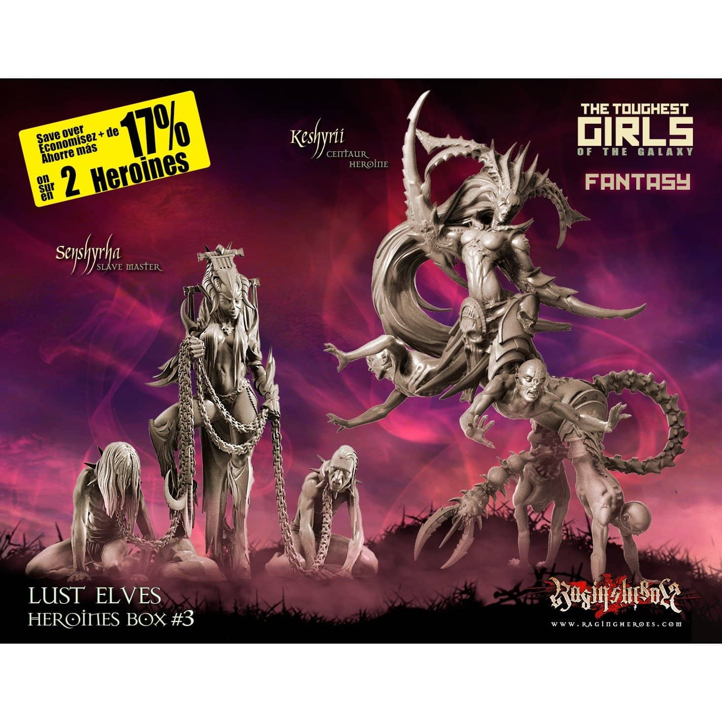 Heroines Box Lust Elves 3 (FANTASY) - Raging Heroes