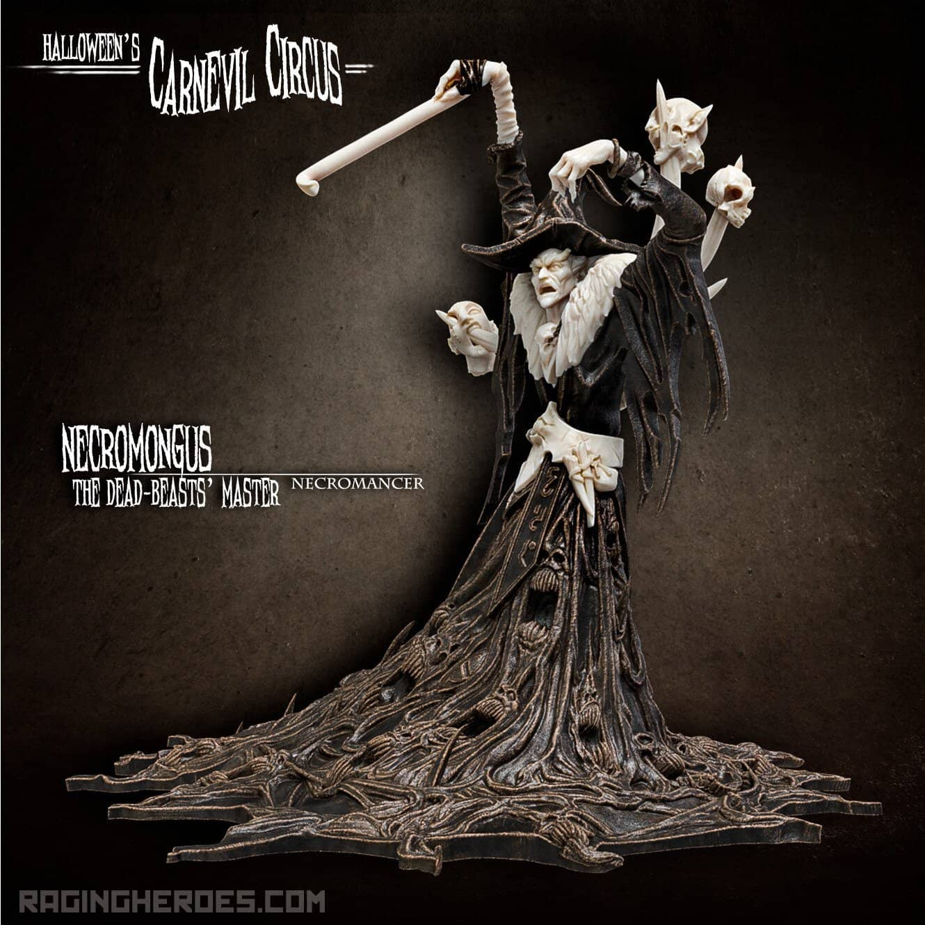Necromongus the Dead-Beasts' Master, Necromancer (CC - F) - Raging Heroes